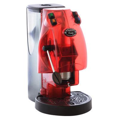 Macchina da caffe a cialde frog rosso trasparente - Macchina da caffe per casa ...